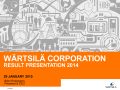 Result presentation Q4 and full year 2014