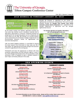 Fall 2014, Volume 5, Issue 25 - UGA Tifton Campus Conference