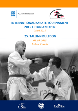 INTERNATIONAL KARATE TOURNAMENT 2015 ESTONIAN OPEN