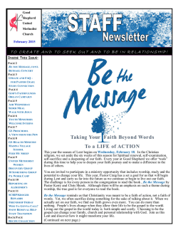 2015 February STAFF Newsletter for website