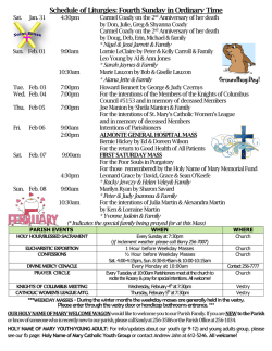 The current Parish Bulletin is available. Click here
