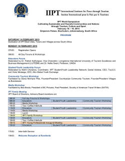 Full Programme - IIPT World Symposium