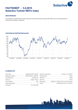 FACTSHEET - Solactive Turkish REITs Index 30.1.2015