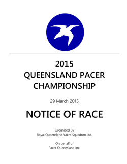 2015 Pacer Championship (Fleet Racing) – Notice of Race