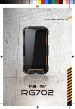 RG702 User Guide - Rugged Mobile Phones