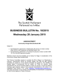 Business Bulletin (1.5MB pdf) - Scottish Parliament