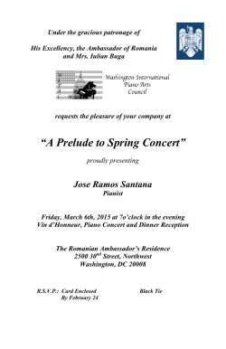 A Prelude to Spring Concert