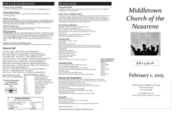 eBulletin - Middletown Church of the Nazarene