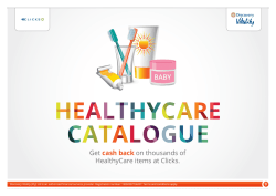 Latest list of HealthyCare products