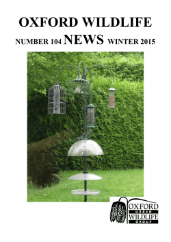 Newsletter Winter 2015 - Oxford Urban Wildlife Group