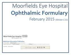 Ophthalmic formulary - February 2015