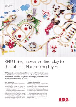 BRIO brings never-ending play to the table at