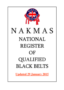 national register - NAKMAS National Register of Qualified Black Belts