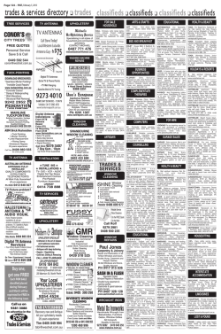 classifieds - Post Newspapers