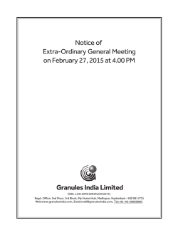 Notice of Extra-Ordinary General Meeting on