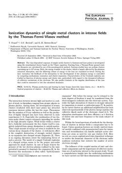 Ionization dynamics of simple metal clusters in intense fields by the