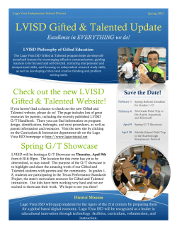 to view our Spring 2015 G/T Parent Newsletter!