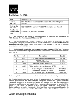 Loan No. 3203-PAK: Power Transmission Enhancement Investment