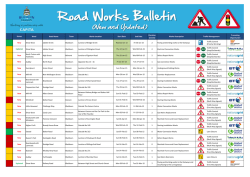 Roadworks Bulletin