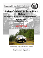 2015 Spring Rally Regs - Association of Northern Ireland Car Clubs