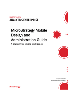 MicroStrategy Mobile Design and Administration Guide