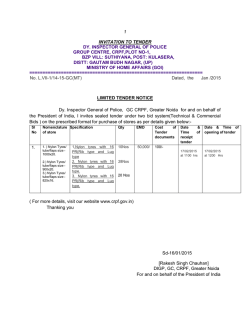 Tender for purchase of Tube and tyre GC CRPF.
