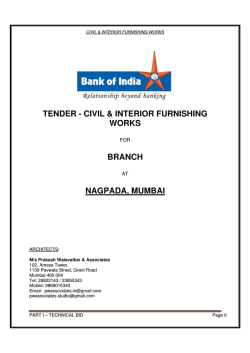 Annexure I - Bank Of India