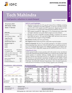 Tech Mahindra - Business Standard