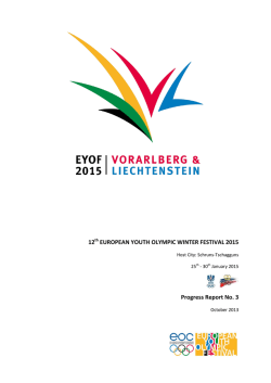 12 EUROPEAN YOUTH OLYMPIC WINTER FESTIVAL