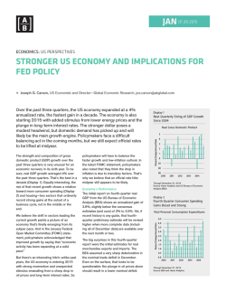 STRONGER US ECONOMY AND IMPLICATIONS FOR FED POLICY