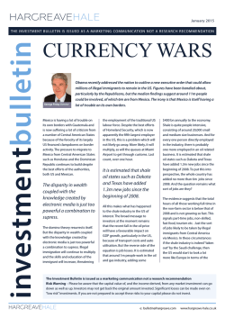 January 2015: Currency Wars (301 KB)