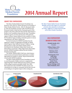 View Annual Report - Metro Omaha Medical Society