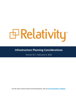Infrastructure Planning Considerations