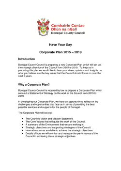 Have Your Say Corporate Plan 2015 – 2019
