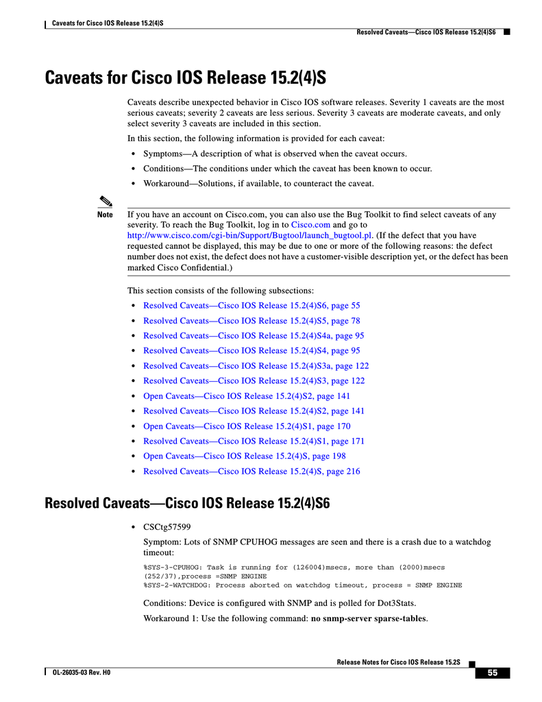 Resolved Caveats—Cisco IOS Release 15 2(4)S