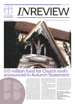 January 15 InReview - The Church of England