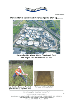 Harnaschpolder Waste Water Treatment Plant, The