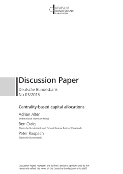 Centrality-based capital allocations