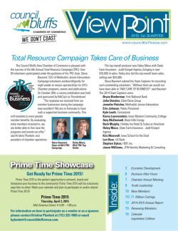 View Point - Q1 2015 - Council Bluffs Area Chamber of Commerce