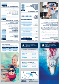 2015 Term 1 Leisure Guide