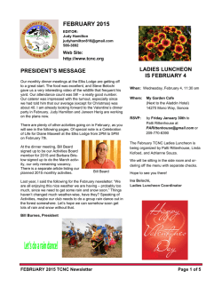 Current Newsletter - Tuolumne County Newcomers Club