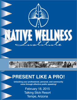 PRESENT LIKE A PRO! - Native Wellness Institute