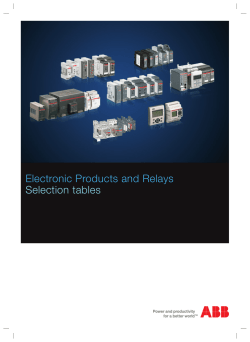 Electronic Products and Relays Selection tables
