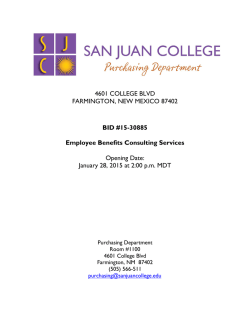Bid Doc - San Juan College