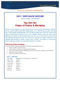 Ralph Fletcher Flyer - Saigon South International School