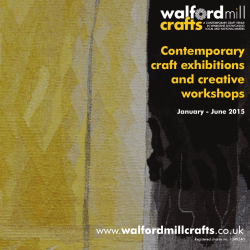 Contemporary craft exhibitions and creative