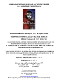 Audition Workshop: January 30, 2015 4:30pm