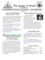 Current Newsletter - Oxon Hill Bicycle and Trail Club