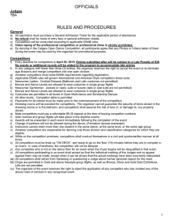 OFFICIALS RULES AND PROCEDURES