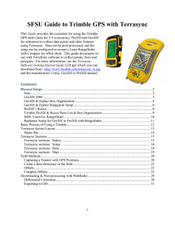 SFSU Guide to Trimble GPS with Terrasync